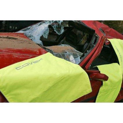 Ochranné pokrytí automobilů při dopravní nehodě HOBRAND COVEX Fluor YellowOchranné pokrytí automobilů při dopravní nehodě HOBRAND COVEX Fluor Yellow