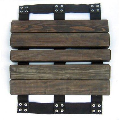 Přejezdový můstek na hadice DIN C52 a B75, dřevěný hnědá barva