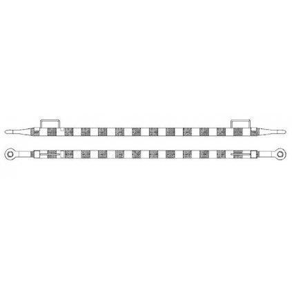 Tažná/vlečná tyč k vlečení motorových vozidel s okem 50/50