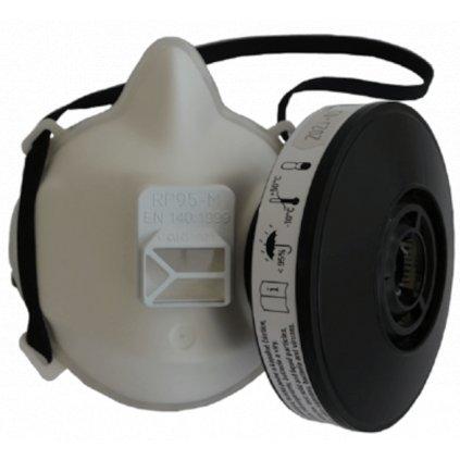 Polomaska ochranná RP95-M s filtrem P3R, CE ČSN EN 140:1999 (s filtrem P3R), výroba ČR