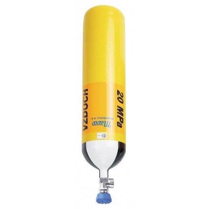 Tlaková ocelová lahev Meva, 7 L/200 bar, závit G 5/8'', ventil VTI EFV