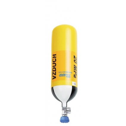 Tlaková ocelová lahev Meva, 5 L/200 bar, závit G 5/8'', ventil VTI EFV