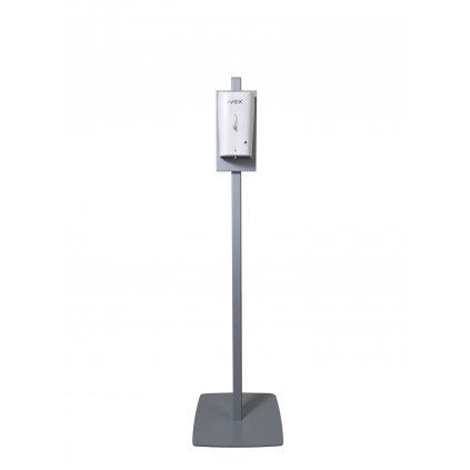 Dezinfekční stojan AVEX, NICAS B5A s bezkontaktním dávkovačem na dezinfekci včetně odkapávače, barva - šedá
