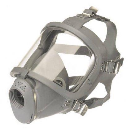 Maska pro dýchací přístroj MEVA SARI , přírodní pryž, náhlavní kříž, zorník PC