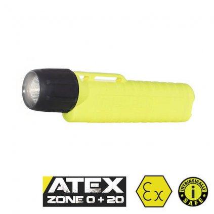 Svítilna UK 4AA eLED RFL 225 lm ATEX Zóna 0, žlutá (na přilbu)