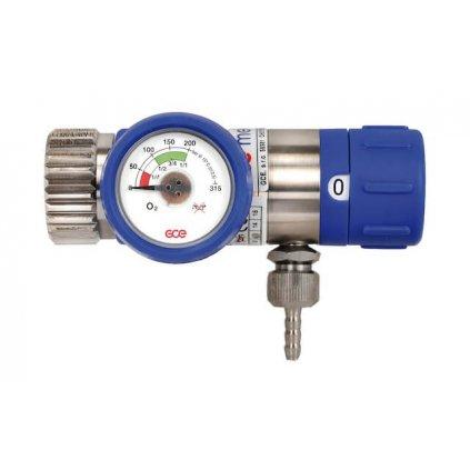 Lahvový redukční ventil GCE, MEDISELECT II, 25 l/min, plyn - kyslík