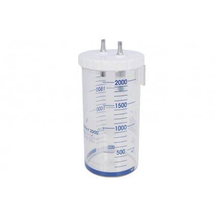 Sběrná odsávací lahev GCE, MEDICOLLECT 2000, polykarbonát, šroub. víko