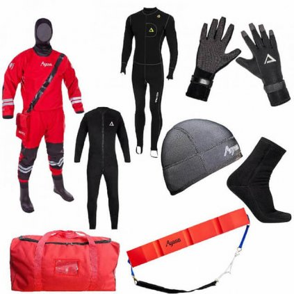 Suchý oblek AGAMA RESCUE BASIC trilaminátový (SET)