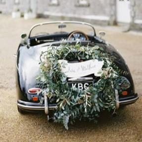 Svatební výzdoba na auto