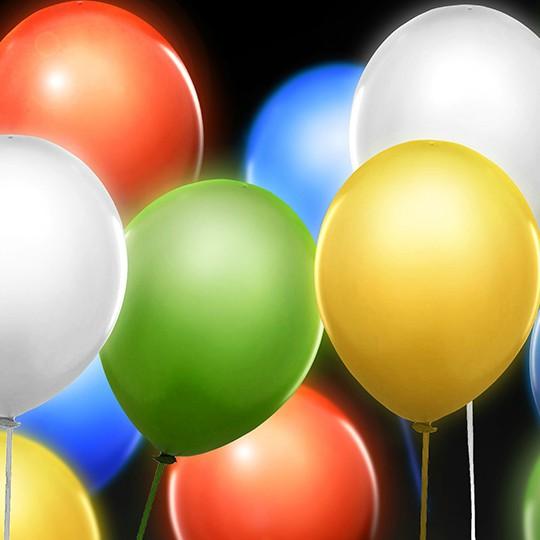 Svítící balónky
