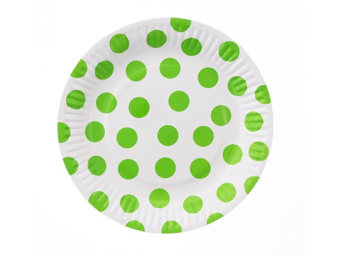 talerzyki papierowe groszki pistacjowe 18 cm