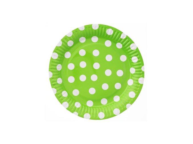 talerzyki papierowe groszki pistacjowe 23 cm