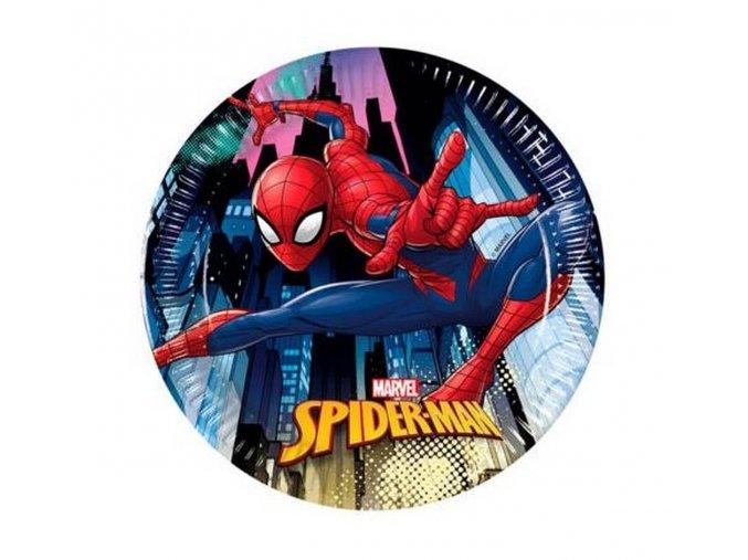 talerzyki papierowe spiderman team up 20 cm 8