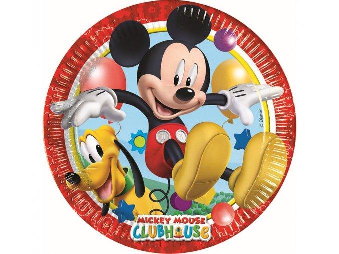 talerzyki papierowe playful mickey 23 cm 8 szt
