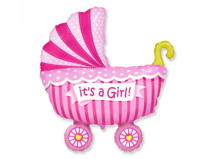 balon na baby shower dziewczynki