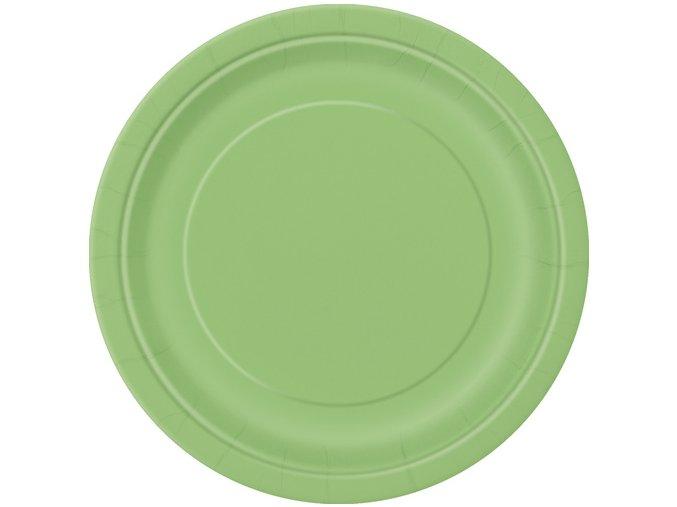 Talíře papírové malé zelené 8ks