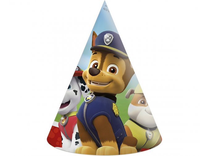 czapeczki urodzinowe psi patrol