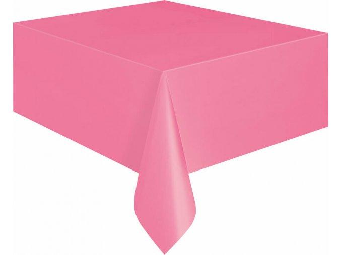 Ubrus plastový růžový