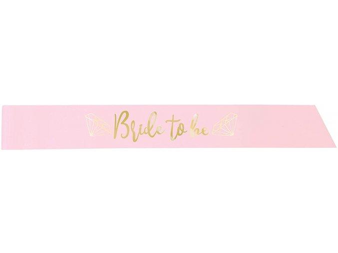 Šerpa BRIDE TO BE světle růžová
