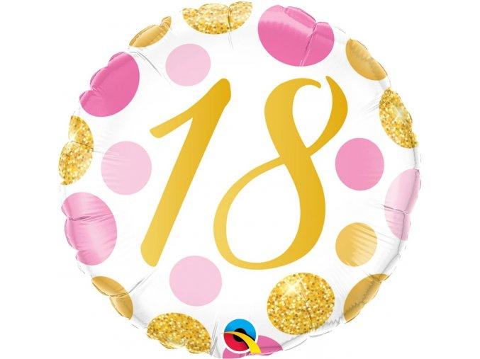 Balonek foliový 18 pink+gold