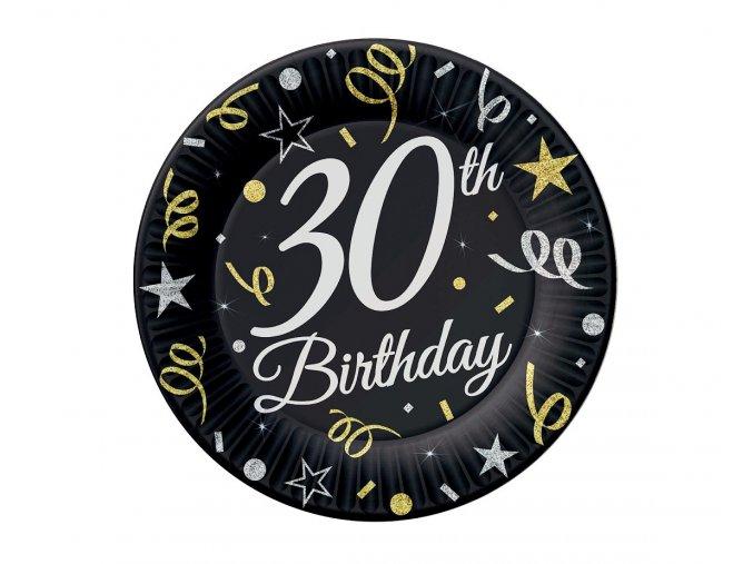 talerzyki 30 urodziny birthday 18 cm