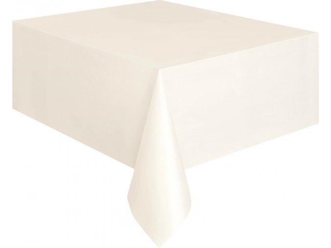 Ubrus plastový bílý