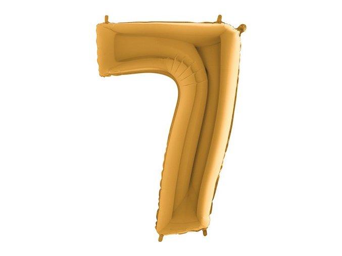 Balon foliove cislo zlate 7 71WGOLD7(1)