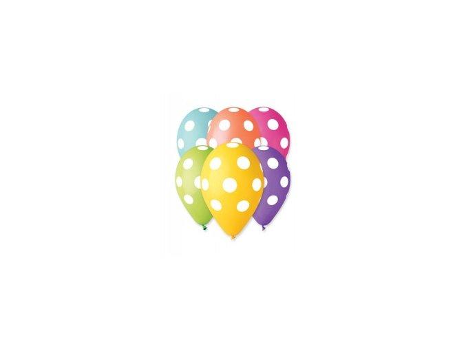 Balonek latexový s puntíky