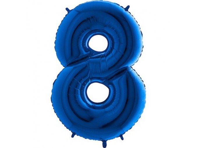 Balon foliove cislo modre 8 71WBLUE8