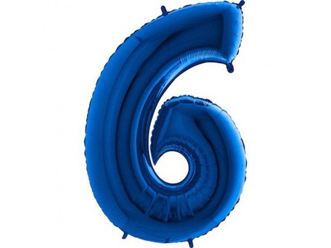 Balon foliove cislo modre 6 71WBLUE6