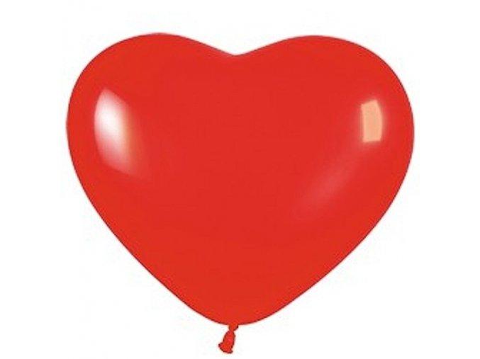 Balonek latexovy srdce cervene 40cm 71CR17