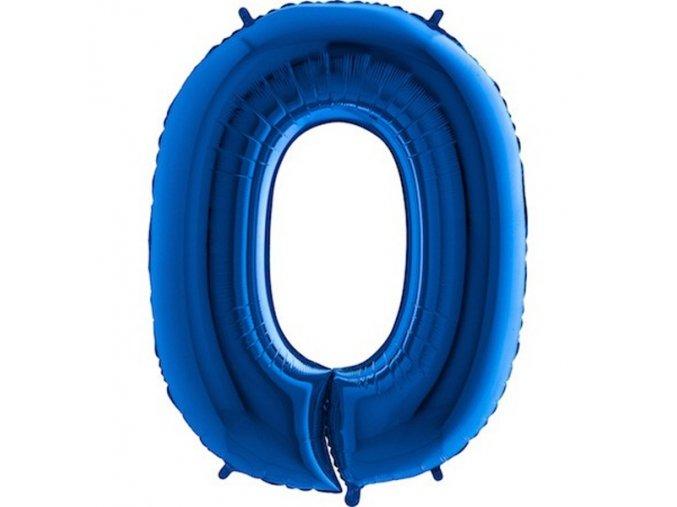 Balon foliove cislo modre 0 71WBLUE0