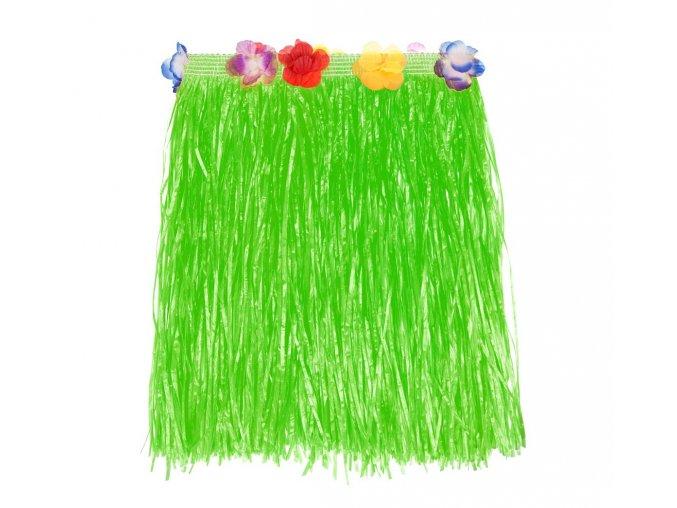 spodnica hawajska zielona