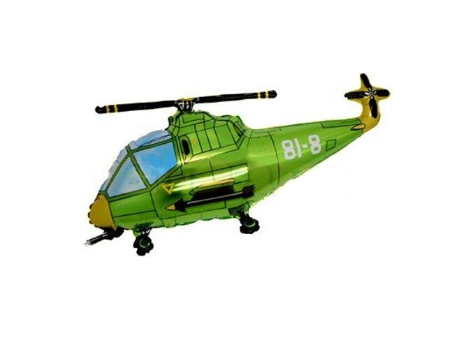 Balon foliovy Helikoptera zelena 12901667ZELE