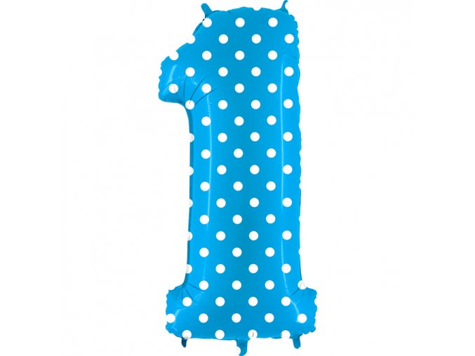 831PT Number 1 Pois Turquoise
