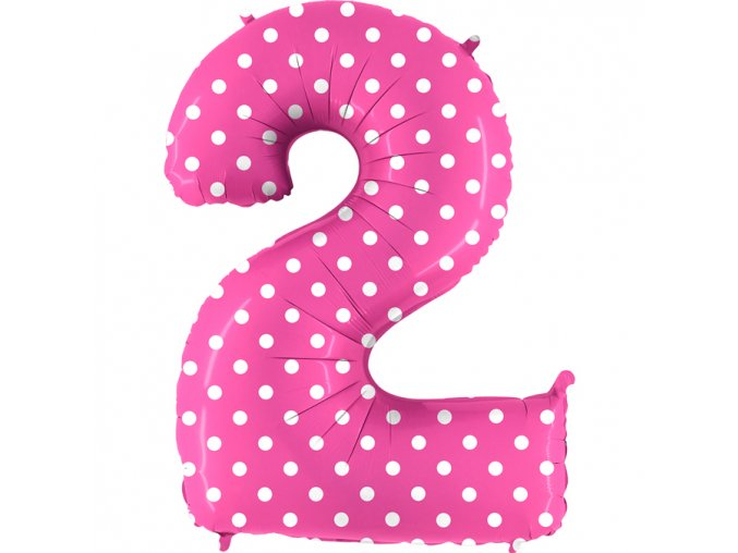 842PF Number 2 Pois Fuxia