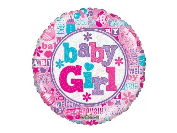 19545 18 F BABY GIRL HOLOGRAPHIC