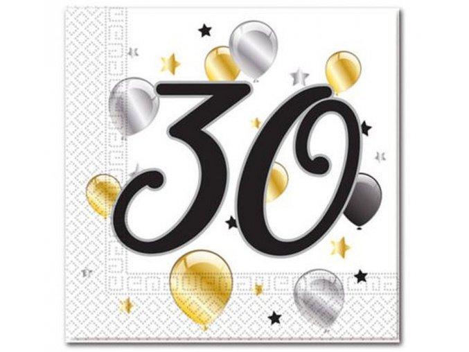 serwetki 30 urodziny balloons rozm 33x33 cm 20