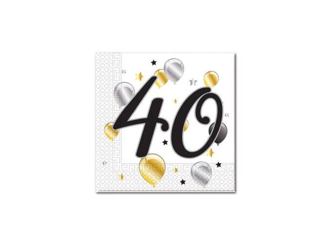 MILESTONE NAPKIN 40