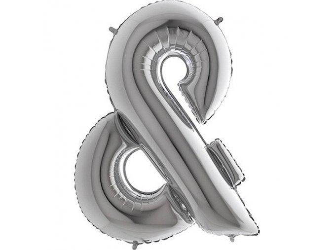 BALONEK FOLIOVY pismeno stribrne spoj. znak 1ks 71WSILVERSPOJ