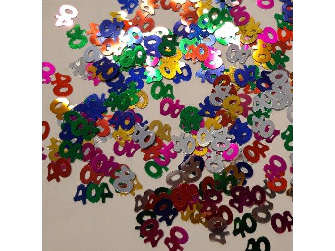 """Konfety na stůl """"40"""" barevné"""
