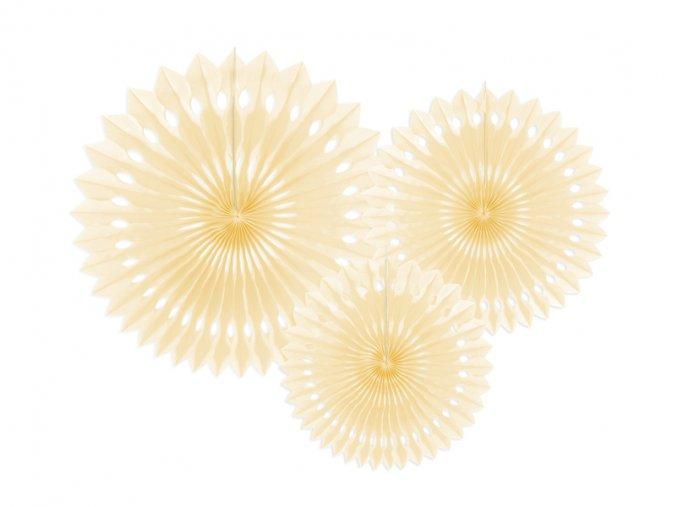 ROZETY zlute 3ks 55RPB1084