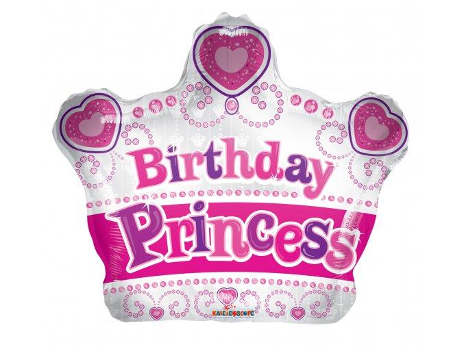 Balonek foliový Birthday princess