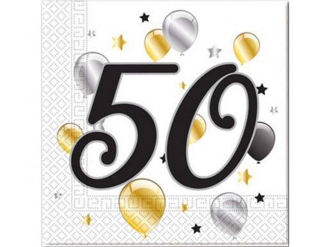 serwetki 50 urodziny balloons rozm 33x33 cm 20