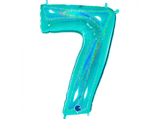 777GHTi Number 7 Glitter Holographic Tiffany