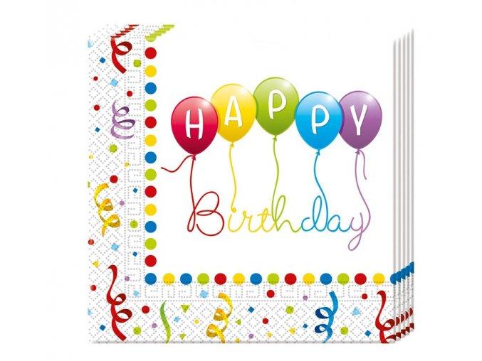 serwetki happy birthday streamers 33x33 cm 20