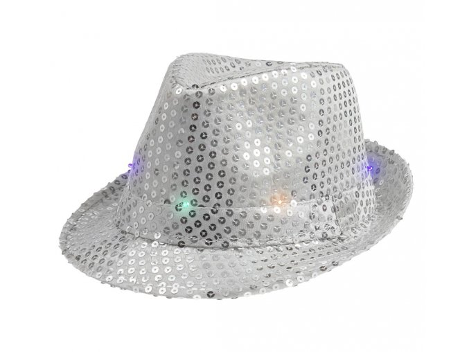 kapelusz swiecacy srebrny cekin