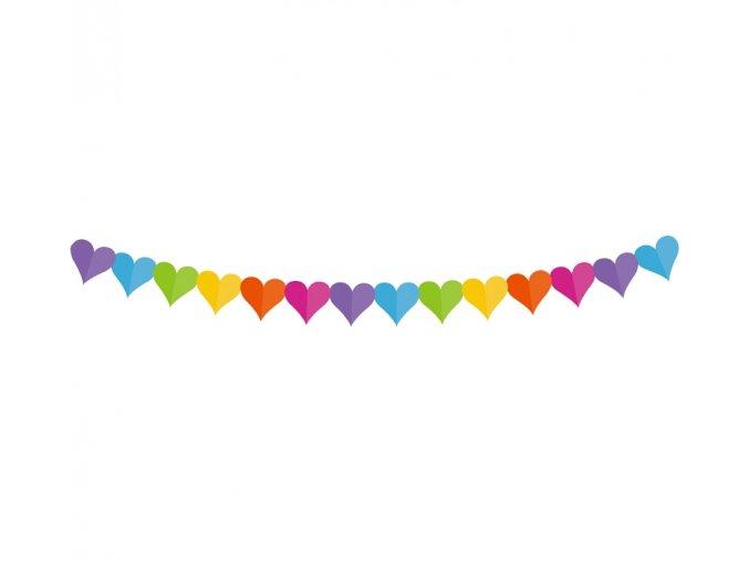 girlanda papierowa kolorowe serduszka 360x17 1