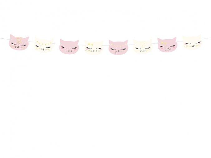 girlanda papierowa teczowe kotki 15 5x17 5x300