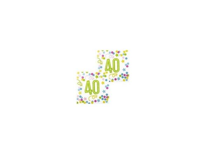 boland serwetki na czterdzieste urodziny 33cm 12 szt b31143